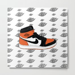 Jordan 1 Shattered Backboard Metal Print