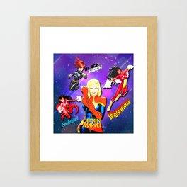 Comic Women  Framed Art Print