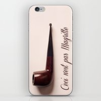 magritte iPhone & iPod Skins featuring Magritte by Maressa Andrioli