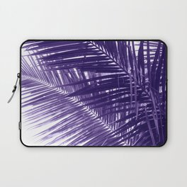 Violet Coco Palm Leaf. Tropical Nature Photo Poster Laptop Sleeve