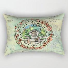 Not All Those Who Wander Rectangular Pillow