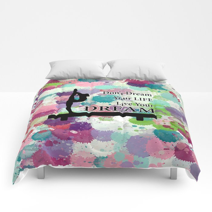 Gymnastics Live Your Dream Design Comforters
