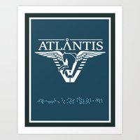 stargate Art Prints featuring Stargate Atlantis by Winter Graphics