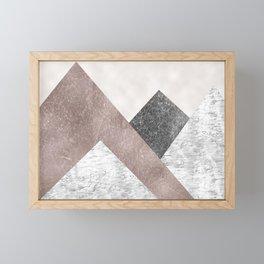 Rose grunge - mountains Framed Mini Art Print