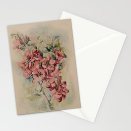 Flowering Japanese quince 2 Stationery Cards