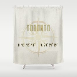 Toronto - Vintage Map and Location Shower Curtain