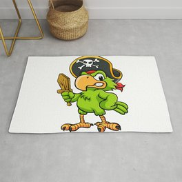 Pirate Parrot Rug