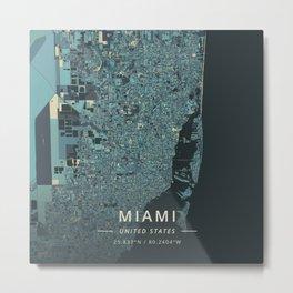 Miami, United States - Cream Blue Metal Print