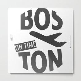 BOSTON BADGE Metal Print