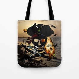 Fishing with a Florida Pirate Tote Bag