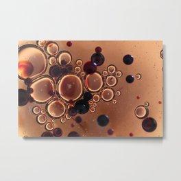 Bubbles photo macro Metal Print