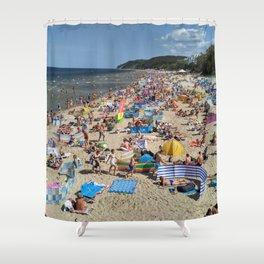 The beach 01 Shower Curtain