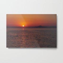Italian sunset. Coast of Naples Metal Print