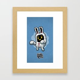 Rabbit doodle Framed Art Print