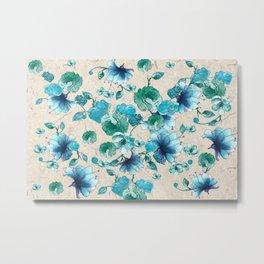 Wildflower Bouquet watercolor Metal Print