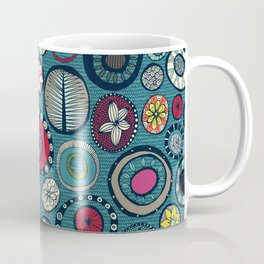 Honolulu hoops chevron blue Coffee Mug