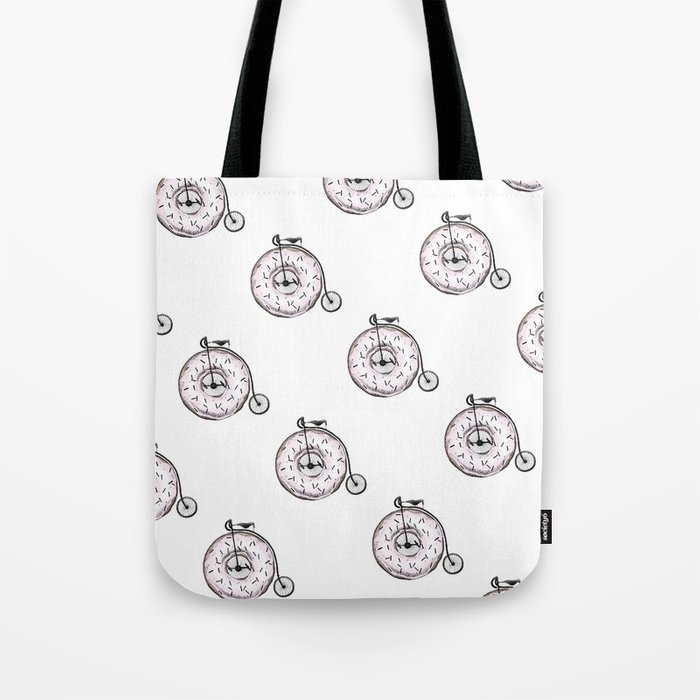 Donut Ride My Bicycle Tote Bag