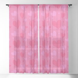 happy cupid in love Sheer Curtain