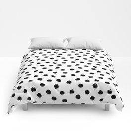 Polka Dots Black and White Comforters
