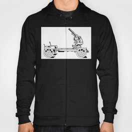 Anti-aircraft gun. Hoody