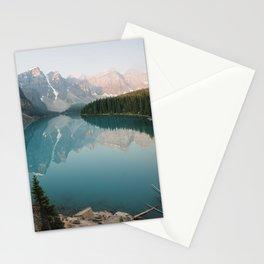 Pastel Sunrise over Moraine Lake Stationery Cards