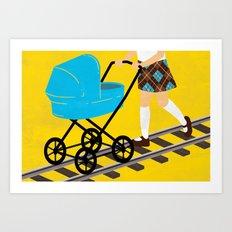 The Babysitting Track Art Print