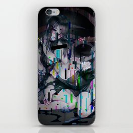 Sad anime aesthetic - no more love iPhone Skin