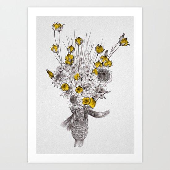 Les Fleurs Art Print
