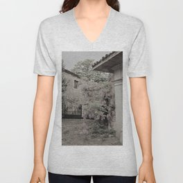 old village garden Unisex V-Neck