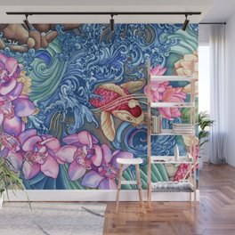 Orchid Splash Wall Mural