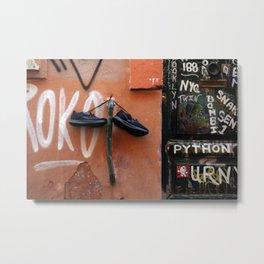 Shoe Parking Metal Print