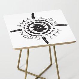 Native Amrican STEM Mandala Southwestern Side Table