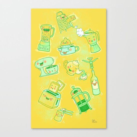 Dirty Kitchen Tools  Canvas Print