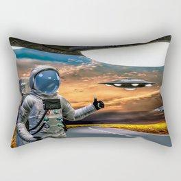 Hitchhiking Around The Universe Rectangular Pillow