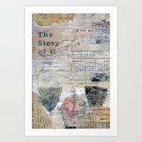 The Story of the Cow Bell Art Print