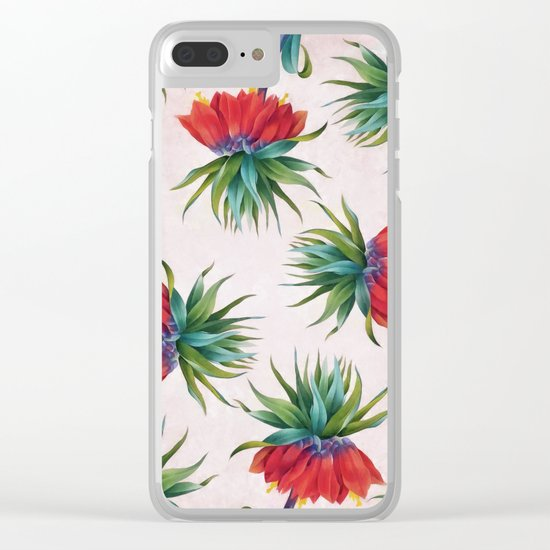 Crown imperial flowers Clear iPhone Case