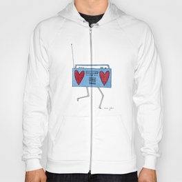 boombox with hearts Hoody
