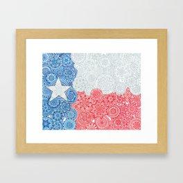 Texas Flag Mandala Framed Art Print