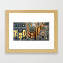 Crowd With Cell Phones Framed Art Print