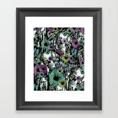Mrs. Sandman, melting rose skull pattern Framed Art Print