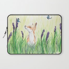 Fox with Butterflies Laptop Sleeve