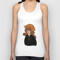 hermione Tank Tops featuring Hermione and Crookshanks  by zoosemiotics