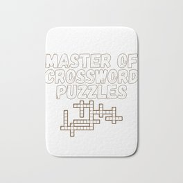 Master of Crossword Puzzles Fun Puzzle Lover Gift Bath Mat