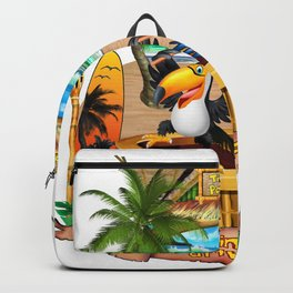 Gettin' Freaky at the Tiki Backpack