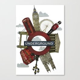 Around London digital illustration Canvas Print