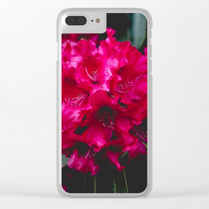 Vivid Floral Clear iPhone Case
