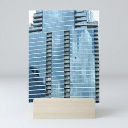 BLUE CHICAGO - CLEANING WINDOWS Mini Art Print