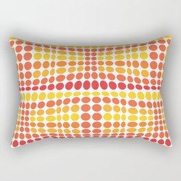 Dottywave - Orange Yellow wave dots pattern Rectangular Pillow