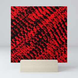 Red sublime metal pattern Mini Art Print