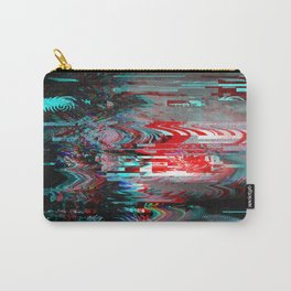 Glitch background. Computer screen error. Carry-All Pouch